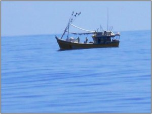 Fishing boat spotted near the Revelle