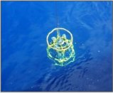 Ship's CTD in water