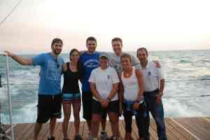 The crew near Key West