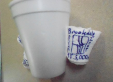 Foam cup:  Before-and-after a trip to 5,000 meters