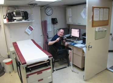 Doc: Always on duty -  Sick Bay on the Ron Brown