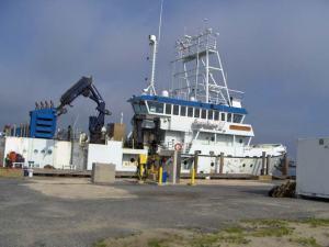 The Hugh R. Sharp at dock in Delaware