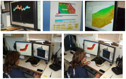 These are various images of data completed during night processing. (Pictures taken by Nick Mitchell.)