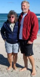 Frank and Joan enjoying the beach!