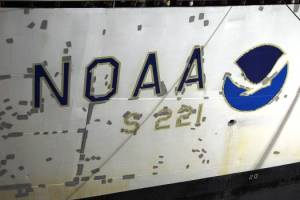 Tape where the symbol and number were painted