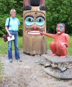 NOAA Teacher at Sea, Beth Carter, visits a native site in Ketchikan, AK.