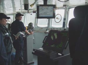 The bridge of NOAA Ship RAINIER