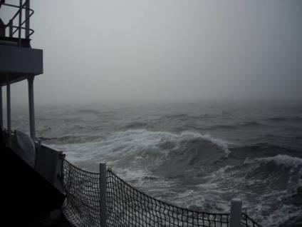 Lots of fog on the sea…