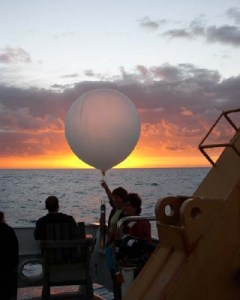 A sunset launch