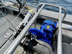 The CTD and the winch mechanism