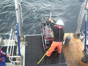 Deploying the ROV