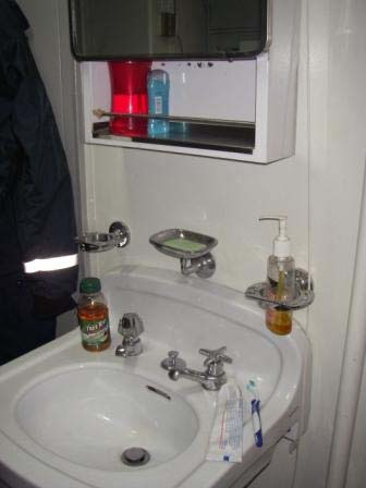 The sink in my stateroom.