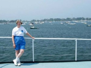 NOAA Teacher at Sea, Mary Ann Penning, prepares to set sail aboard NOAA Ship ALBATROSS IV out of Woods Hole, MA.