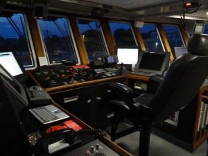 Captain's Chair on the Hugh R. Sharp