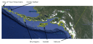 Map of the Alaskan Coastline