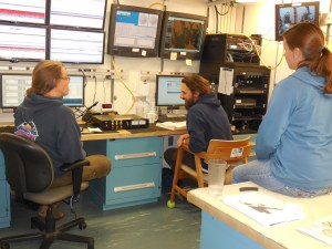 Scientist Team Members--- Abigail, Patrick, and Kirsten---Engaged in a Stimulating Discussion