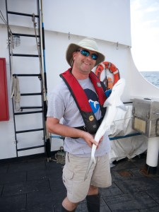 Volunteer Arjen celebrates his birthday aboard the Oregon II!