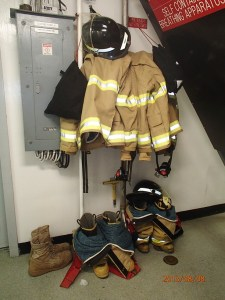 Fire fighting gear ready to go.