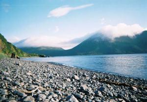 Shumagin Islands, AK --on shore in Eagle Harbor.