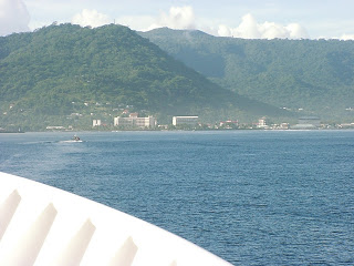 Approaching the port