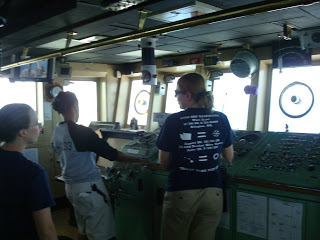 Learning about radar on the bridge