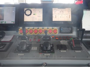 The ship's controls.  No longer do you move a steering wheel.  Instead there are knobs, buttons, and joysticks.