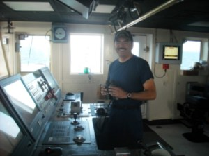 Commander Ramos at the helm