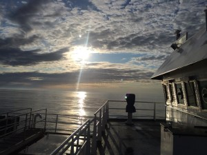 Another beautiful sunrise on the Bering Sea