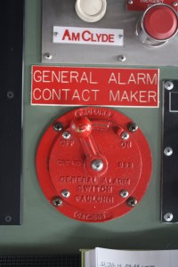 The General Alarm on the Bridge.