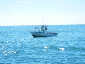 Lobster and crab pots were everywhere - this boat was hauling in and checking their traps