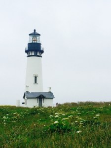 The lighthouse at Yaquina Point.
