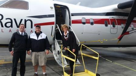 Flight Attendant Lana Karlberg, Captain Stevens.