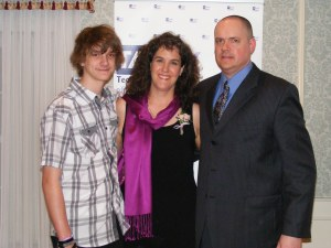 At the TACNY Outstanding Teacher awards with my husband and son, 2013