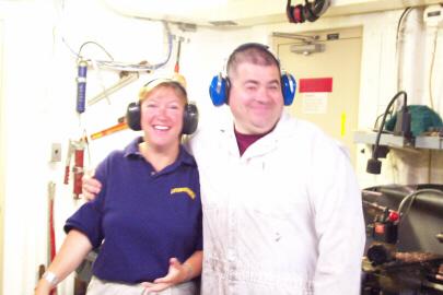 TAS Jane Temoshok and Chief Engineer Mike.