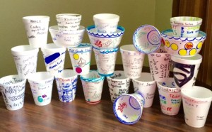 TAS Mary Cook styrofoam cups