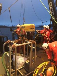 Crew deploys ROV