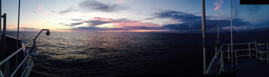 Typical evening view from the flying bridge of the Bell M. Shimada