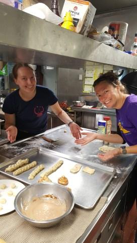 Liz & OCB makin the donuts