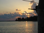 Sunset view of Sarasota Bay from our New College of Florida graduation cruise.