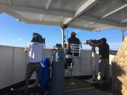 Members of the Cetacean Survey Visual Team on Lookout