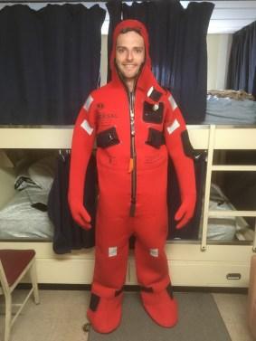 Me in survival suit