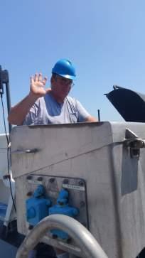 Steve on crane