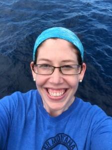 A very happy Teacher at Sea