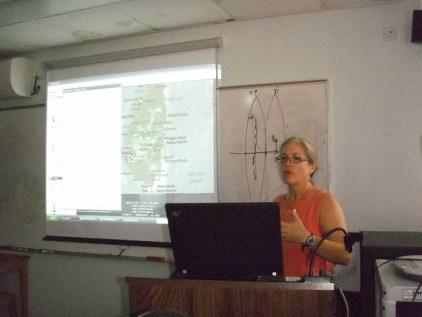 Meg teaching