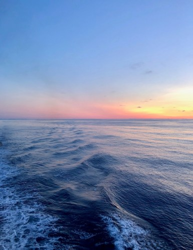 Sunrise over Gulf of Alaska