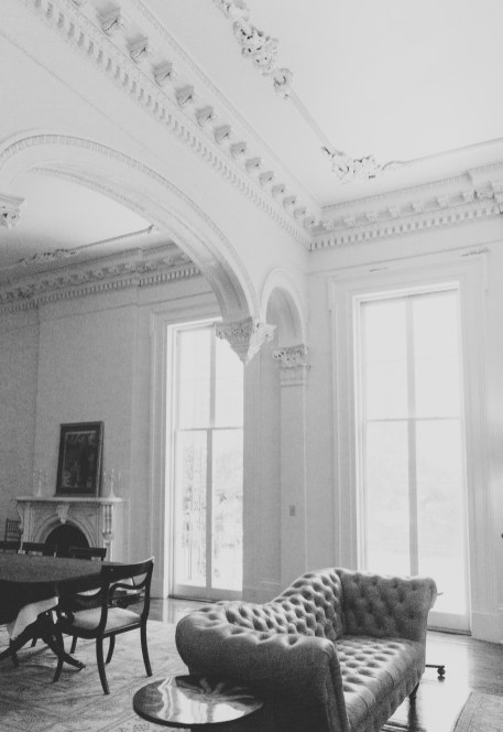 The interior parlor of the Whann Bohn mansion
