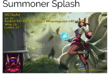 Summoner Splash (League of Legends)
