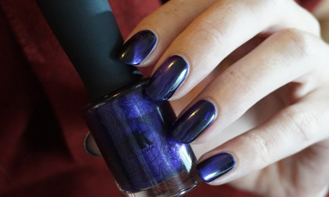 swatch of masura lilac angelite in low light