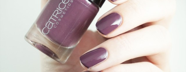 Swatch of catrice berry necessary! A dark purple nail polish
