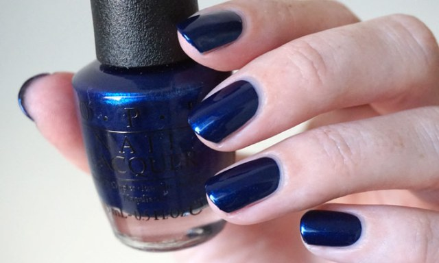 Swatch of OPI Yoga-ta get this blue